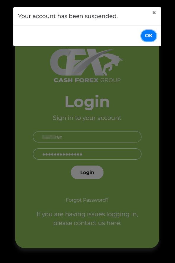 CFX Business Account Termination